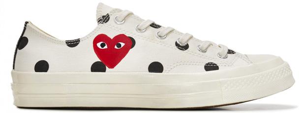 Comme des Garçons Play Converse sneakers low top white polkadot