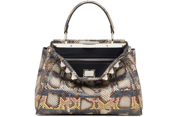 Fendi Peekaboo regular multicolour python