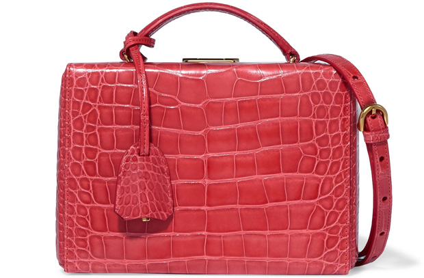 Mark Cross Grace box red alligator