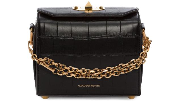 Alexander McQueen box 19 black croc