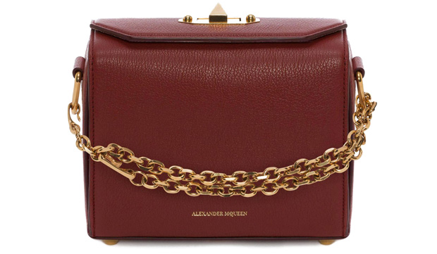Alexander McQueen box 19 burgundy