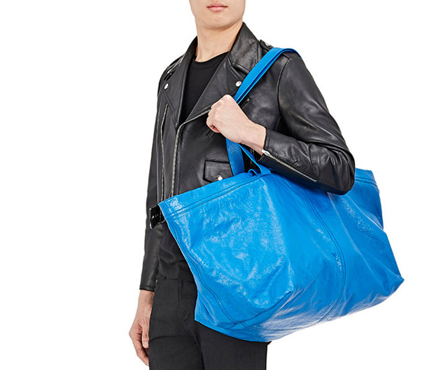Balenciaga Arena shopper Ikea blue barneys