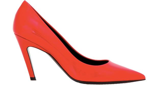 Balenciaga red pantent pumps