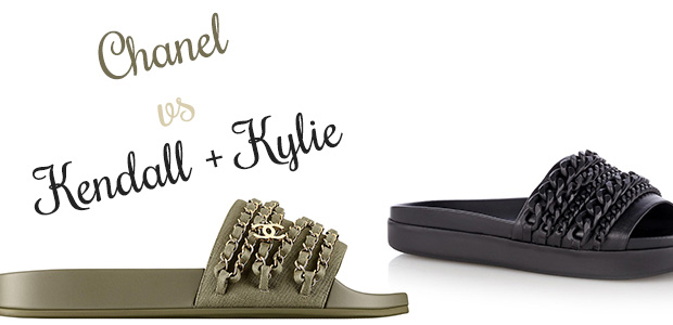 Chanel Kendall + Kylie Shiloh slippers