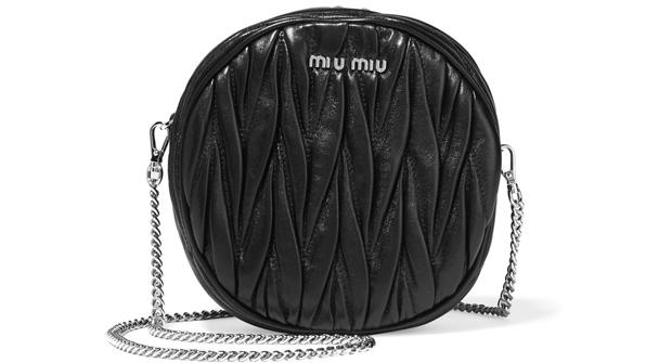 Miu Miu matelasse black circle bag