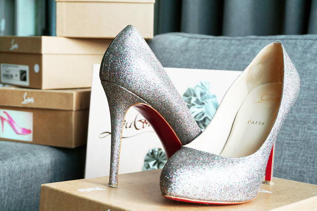 TBH Christian Louboutin collectie Declic 120 glitter