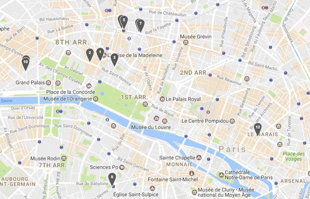 Chanel boetieks in Parijs