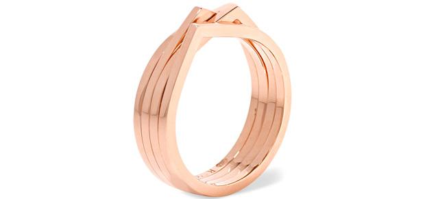 Repossi Antifer rose gold ring