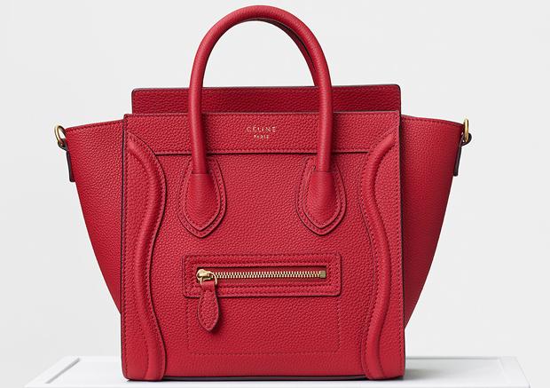Céline fall winter 2017 nano luggage red