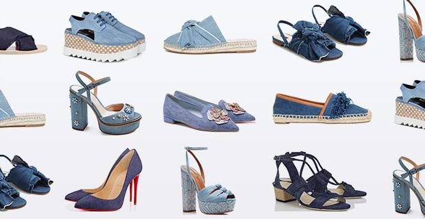 Denim schoenen