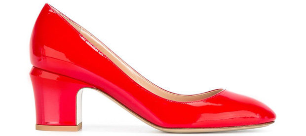 Valentino Tan-Go pumps red 60mm