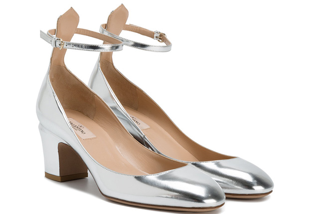Valentino Tan-Go pumps silver 60mm