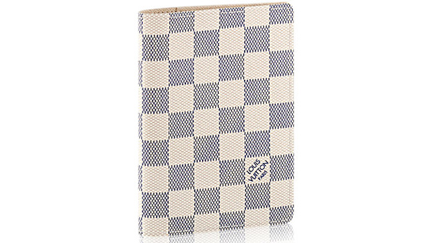 Louis Vuitton passport cover toile damier azur