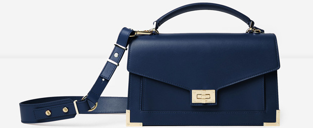 Emily Mini 289 euro The Kooples Emily bag midnight blue adcf97fcfc