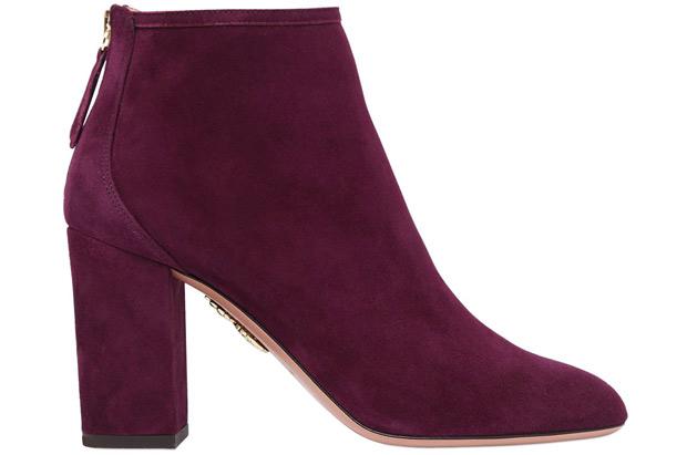 Aquazzura Burgundy boots