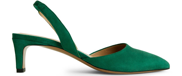 ARKET slingback mid heel green