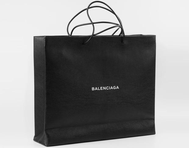 Balenciaga leather shopping bag bag black