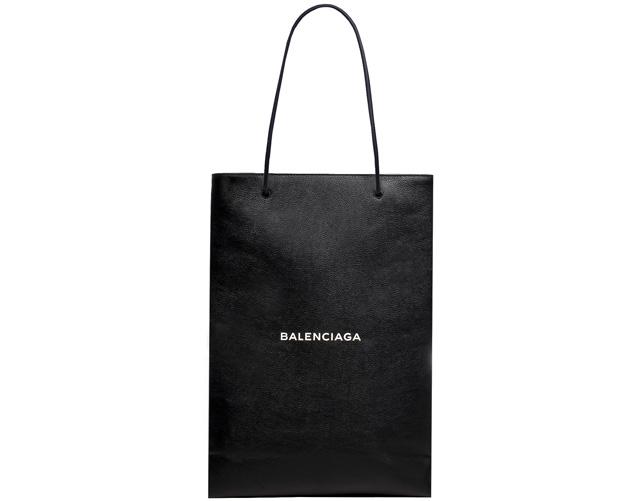 Balenciaga leather shopping bag bag black small