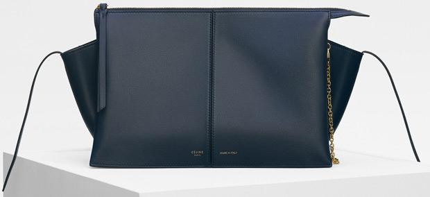 Céline winter 2017 navy tri-fold clutch