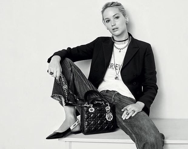Dior J'adior flats Jennifer Lawrence
