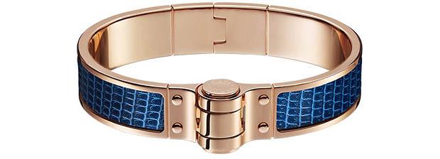 Hermès bracelet a charniere cur blue saphir