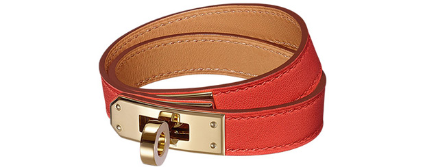 Hermès Kelly Double Tour Swift rouge