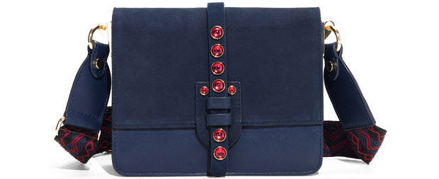 & Other Stories blue suede bag