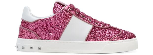 Valentino Flycrew sneakers glitter pink