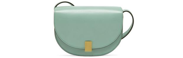 Victoria Beckham half moon bag nano celadon