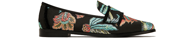 Zara loafers jacquard