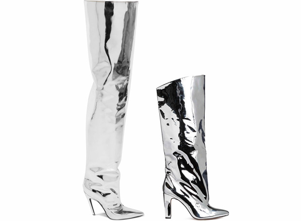 Balenciaga mirrored thigh high boots