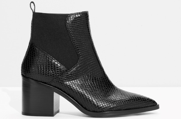 & Other Stories snake Chelsea boots