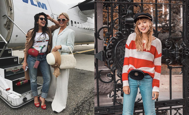 Anna Nooshin & Adashoffash Instagram Gucci belt bag