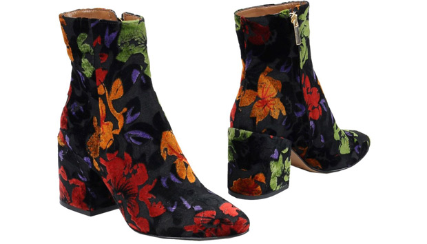 Bianca di ankle boots flowers