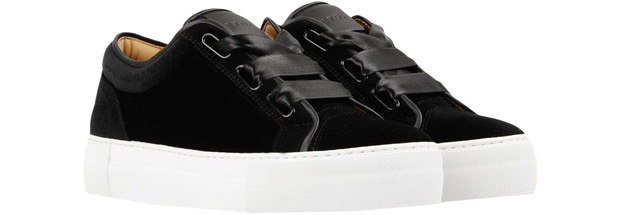 ETQ Amsterdam velvet sneakers black