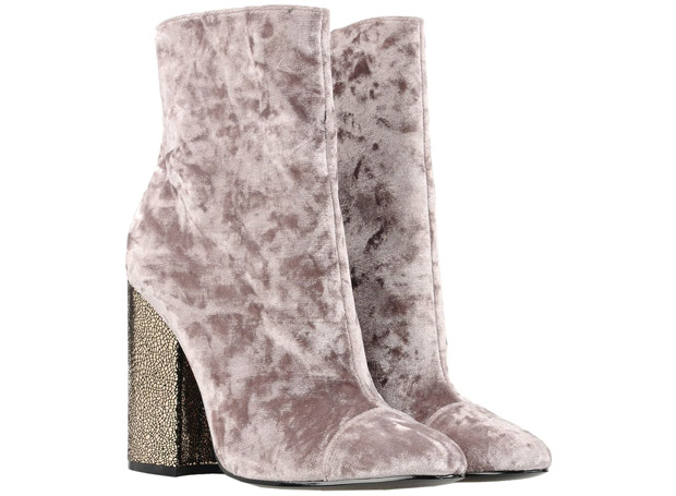 Kendall + Kylie velvet ankle boots