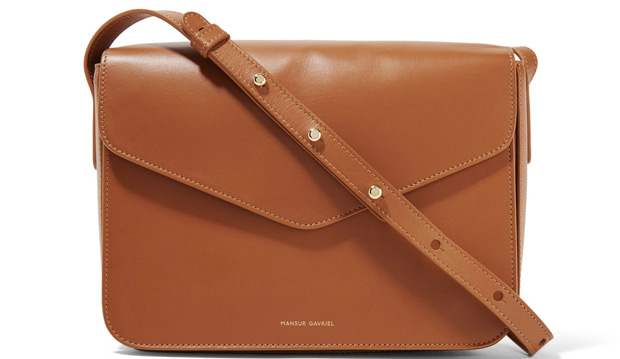 mansur gavriel envelope bag camello