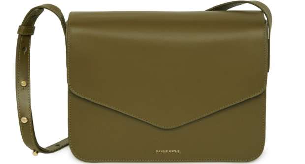 mansur gavriel envelope bag green