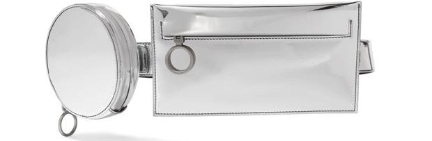 Off-White belt bag silver
