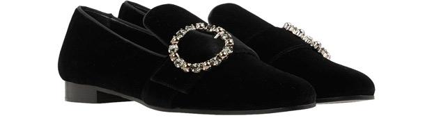 Roberta Festa velvet loafers