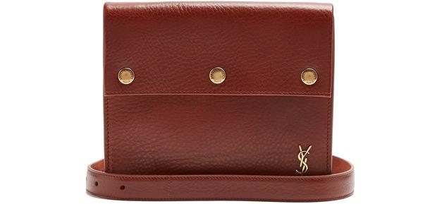 Saint Laurent belt bag red