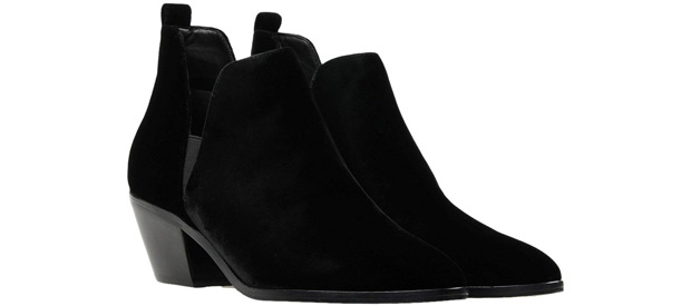 Sigurson Morrison velvet boots black