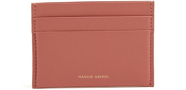 Mansur Gavriel cardholder blush