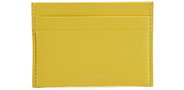 Mansur Gavriel cardholder yellow