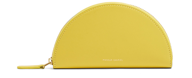 Mansur Gavriel mini moon zip around yellow