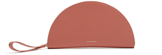 Mansur Gavriel mini zip around blush