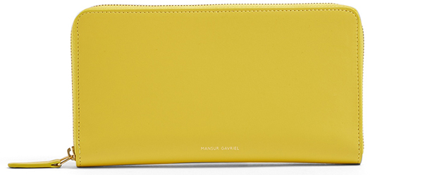 Mansur Gavriel continental wallet yellow