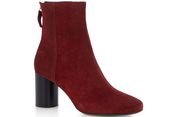 Sandro red suede boots