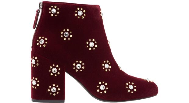 Senso velvet boots red