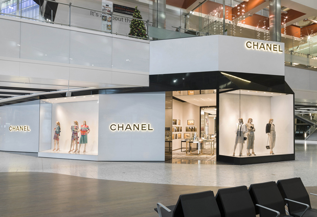 Chanel at Heathrow airport